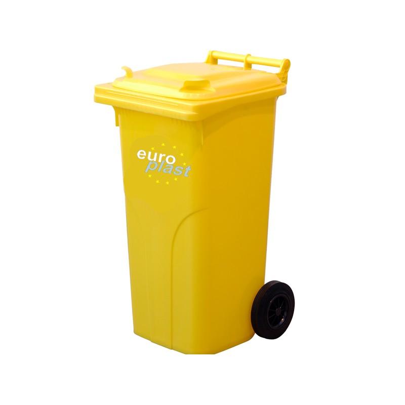 Пластмасова кофа 120 литра - жълта