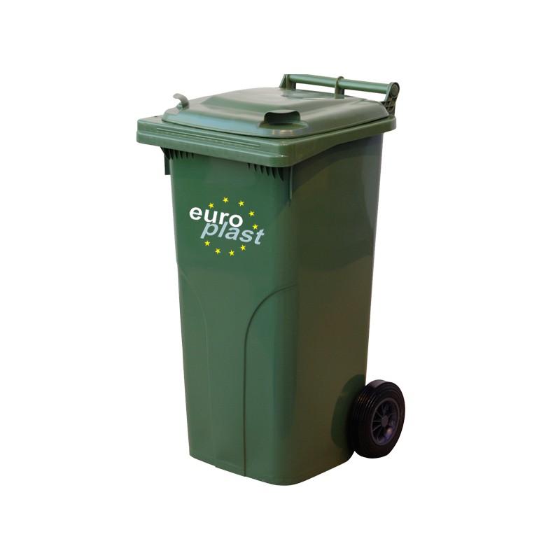 Пластмасова кофа 120 литра - зелена