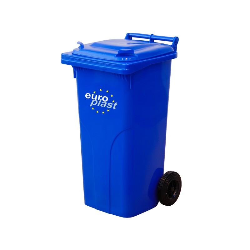 Пластмасова кофа 120 литра - синя