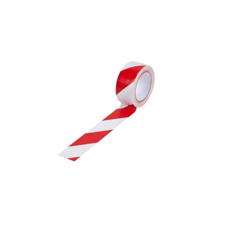 Лепяща лента червено-бяла