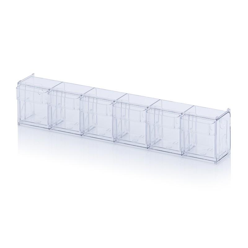 Прозрачни кутии за сортиране KKS 6 t, 60 x 9.1 x 11.3 cm