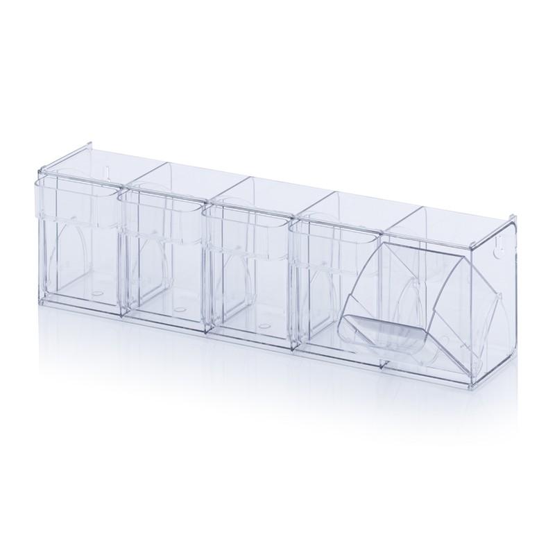 Прозрачни кутии за сортиране KKS 5 t, 60 x 13.3 x 16.4 cm