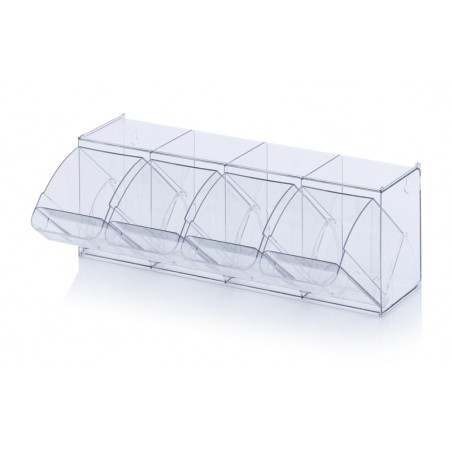 Прозрачни кутии за сортиране KKS 4 t, 60 x 16.8 x 20.7 cm