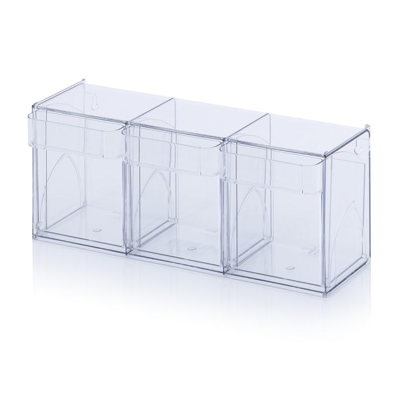 Прозрачни кутии за сортиране KKS 3 t, 60 x 19.7 x 24 cm
