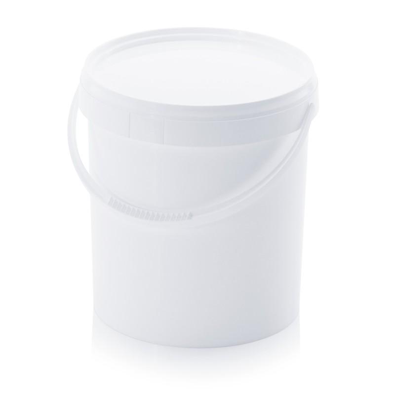 Кръгла пластмасова кофа 10,8л с пластмасова дръжка и капак