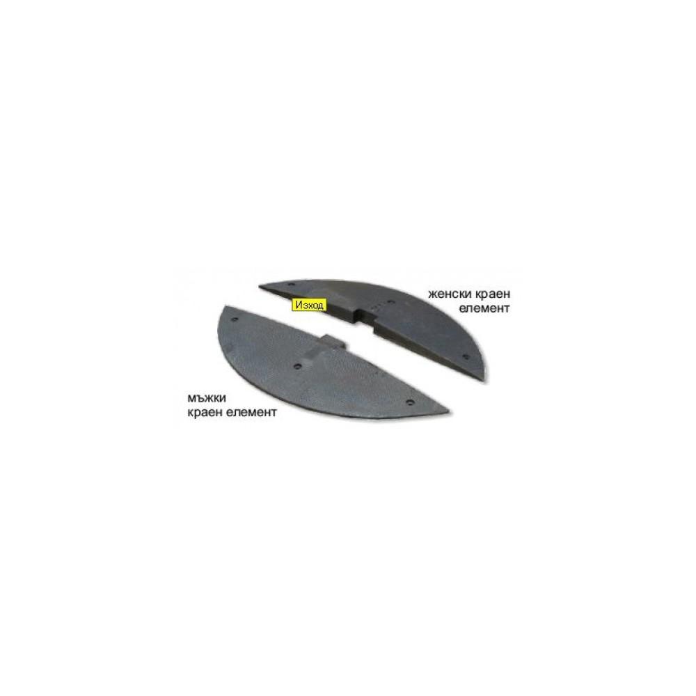Ограничител на скоростта, 50 х 900 x 500мм, краен модул