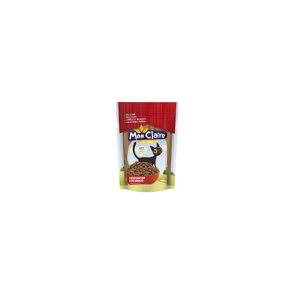 Суха храна за котки Mon claire - с говеждо 0,400 кг.