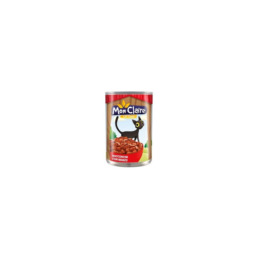 Храна за котки MON CLAIRE - с говеждо 0,405кг