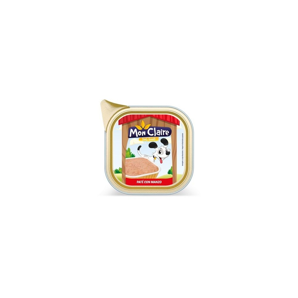 Храна за кучета MON CLAIRE - пастет с говеждо 0,300кг